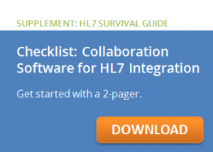 Checklist collaboration software for HL7 integration
