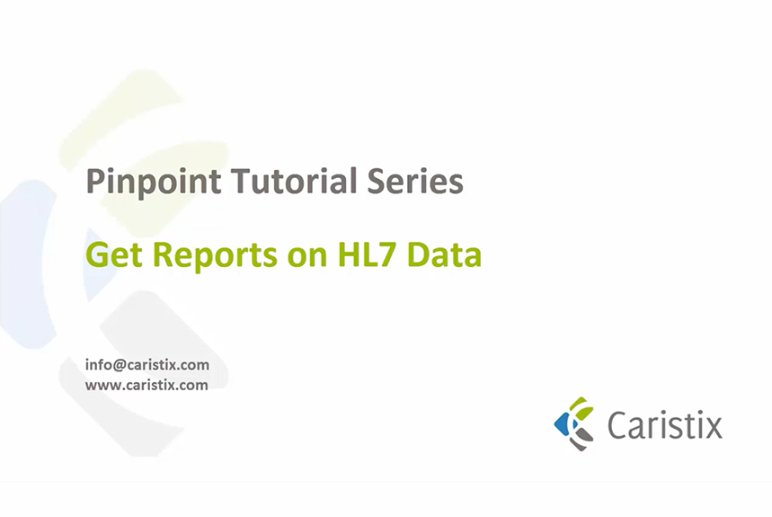 Get reports on HL7 data