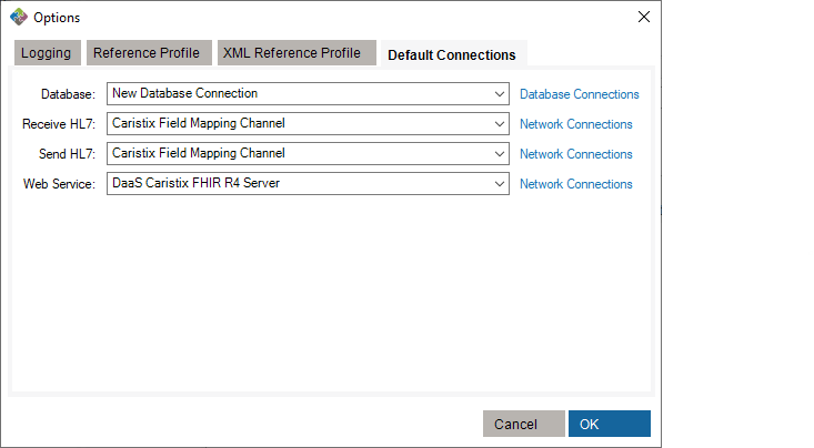 Default Network Connections